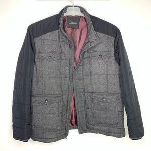 Marc Anthony XXL Black Wool Lined Jacket Coat